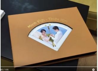 """Cuốn album cưới bìa da """"KHÓ"""" nhất team Colorbook từng làm"""