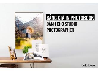 Bảng Giá In Photobook dành cho Studio - Photographer
