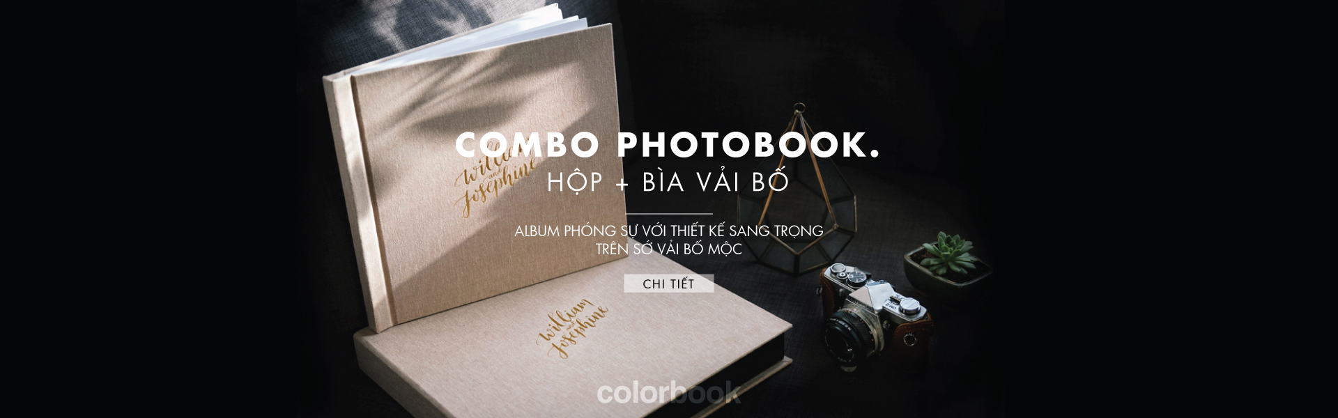 photobook cao cap bia vai bo